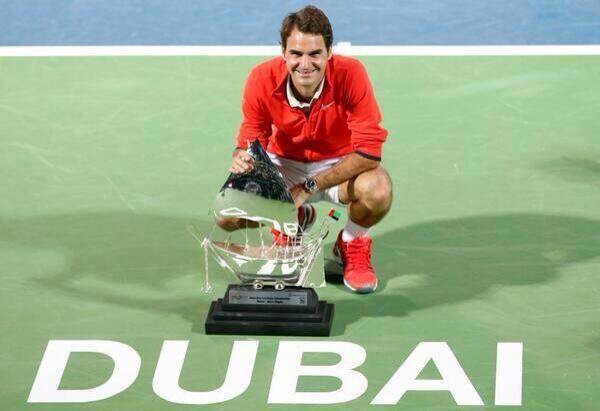 Roger Federer Campeón Dubái 2014