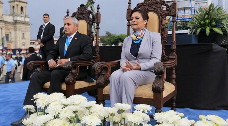 Otto Pérez y Roxana Baldetti