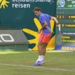 El espectacular tiro de Roger Federer en Halle 2015