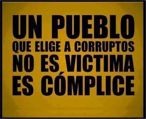 Pueblo que elige corruptos