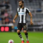 NEWCASTLE UPON TYNE, ENGLAND - AUGUST 23:  Newcastle player Jesus Gamez in action during the EFL Cup Round Two match between Newcastle United and Cheltenham Town at St. James Park on August 23, 2016 in Newcastle upon Tyne, England.  (Photo by Stu Forster/Getty Images)