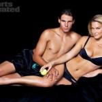 Bar Rafaeli y Rafael Nadal posan para la revista Sports Illustrated