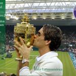 Imágenes conmemorativas de Roger Federer Campeón de Wimbledon 2012